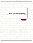 China E-Commerce Market Research Report Outlook to 2016