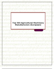 Top 500 Agricultural Machinery Manufacturers (European)