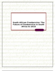South African Foodservice: The Future of Foodservice in South Africa to 2016