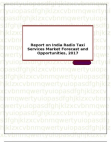 Report on India Radio Taxi Services Market Forecast and Opportunities, 2017