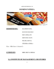 RESEARCH PROPOSAL ON DOMINOS PIZZA