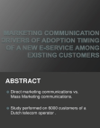 Marketing Communication e-service
