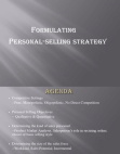 Personal Selling Strategy