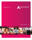 Axis Bank Ltd Annual Report 2011-2012