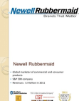 Newell Rubbermaid Case Analysis