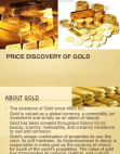 Price discovery of gold