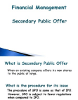 Secondary Public Offer