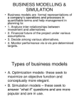 Business Modelling & Simulation