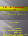 TQM Origins, Evolution & Key Elements