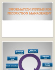 Information Systems For Production Management