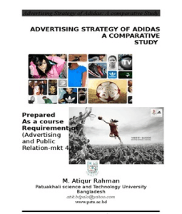 Advertising Strategy of Adidas-A comparative Study