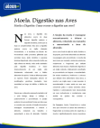Artigos - Moela: Digestão nas Aves