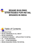 Introduction on Brand Building Strategies for Retail Brands in India