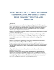 Study Reports on Electronic Mediation, Transformation, and Business Value