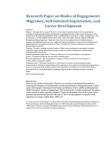 Research Paper on Modes of Engagement Migration, Self-Initiated Expatriation