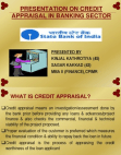 Financial Project on Credit Appraisal in Banking Sector (PPT)