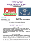 Financial analysis on Amul Industry at Karia District Anand