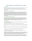 Project Report on Transport & Service costing