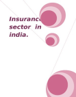 Insurance Sector in India