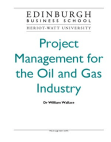 Oil and Gas Industry: Project Management