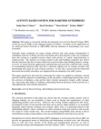 Study Paper on Activity Based Costing for Maritime Enterprises