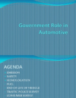 Project Report on Government Role in Automotive Industry