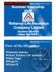 Internship Report on Reliance Life Insurance