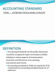 Introduction to Accounting Standard