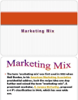BBA III Marketing Mix Detailed