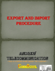 export and import procedure