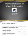 internationalization of wipro technologies