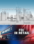 IMPACT OF FDI IN RETAIL SECTOR IN INDIA