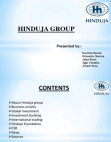PROJECT ON HINDUJA GROUP