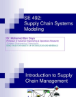 PRESENTATION ON SUPPLY CHAIN MANAGEMENT