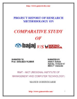 COMPARATIVE STUDY OF BAJAJ VS HERO HONDA