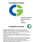 PRESENTATION ON CROMPTON GREAVES