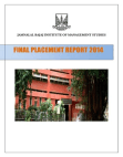JBIMS Final Placement Report 2014