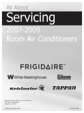 Frigidaire 2007 - 2009 Room Air Conditioner (RAC) Service Manual