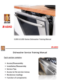 Asko Dishwasher 3,000 & 5,000 Series Service Training Manual