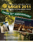 SAGES 2011 Advance Program