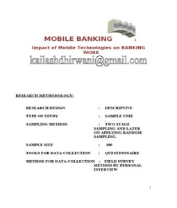 questionnaire on mobile banking Popularity of mobile banking services in bangladesh had a twofold outcome: it   questionnaire survey and a confirmatory factor analysis, we confirm that.