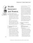 Health Insurance & Women - F.A.Q.