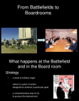 From Battlefields to Boardrooms