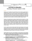 Project : Opportunities & Challenges in Education Sector in India