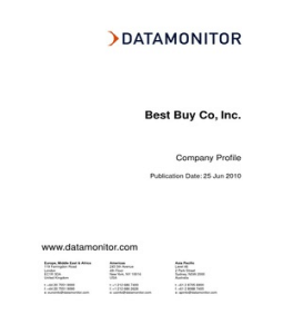 Best Buy Co, Inc. Datamonitor