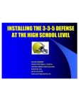 Installing the 335 Defense at the HS Level by David Brown