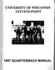 1997 Stevens Point QB Manual