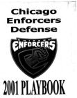 2001 Chicago Enforcers 34 Defense  210 Pages