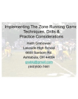 Lakeside HS Zone Running Game Techniques and Drills