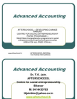 Advance acounting